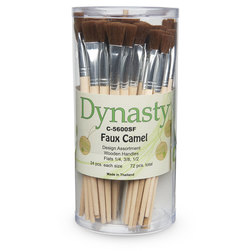 Dynasty® Faux Camel Canister - C-5600SF Set of 72 Flats