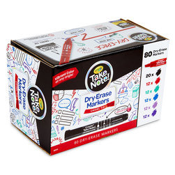 Crayola® Take Note!™ Dry-Erase Markers - Chisel Tip Set of 80 Colors