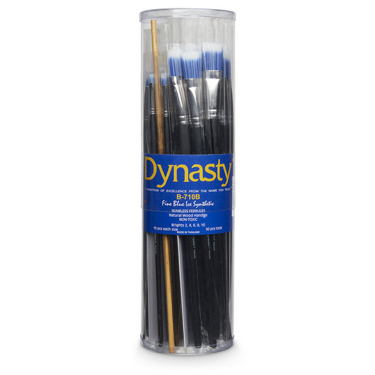 Dynasty® Blue Ice Brush Canister - B-710B Set of 50 Brights
