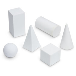 Mini Geometric Solid Foam Shapes - White