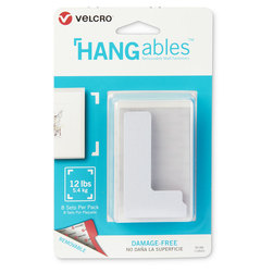 VELCRO® HANGables™ Removable Wall Fasteners - 3 in. x 1-3/4 in. Corners
