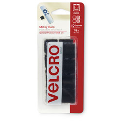 VELCRO® General Purpose Sticky Back Fasteners - Squares - 7/8 in. - Black