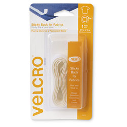 VELCRO® Fabric Tape - 24 in. x 3/4 in. - White