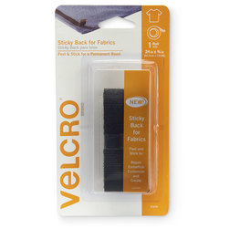 VELCRO® Fabric Tape - 24 in. x 3/4 in. - Black