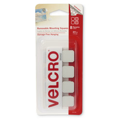 VELCRO® Removable Mounting Squares - 3/4 in. - Set of 8