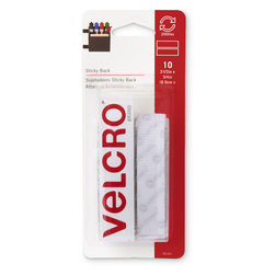 VELCRO® General Purpose Sticky Back Fasteners - Strips - 3-1/2 in. x 3/4 in. - White