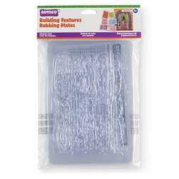 Roylco® Building Textures Rubbing Plates - Set of 10