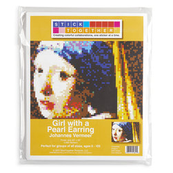 <q>Girl with a Pearl Earring</q> Sticker Mosaic by StickTogether®