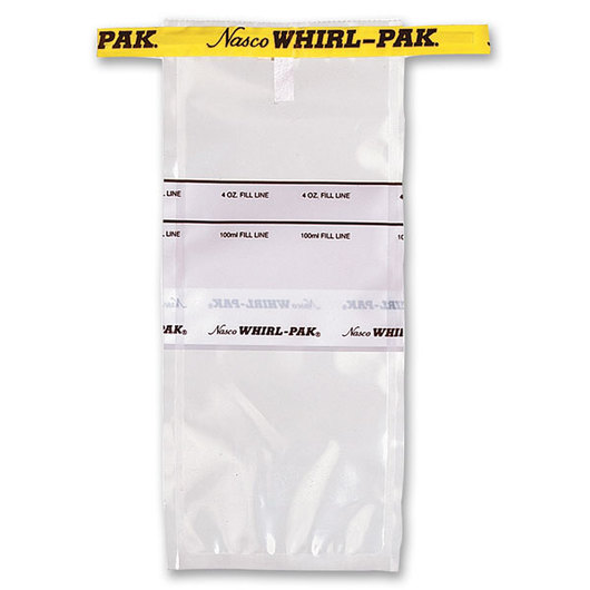 Whirl-Pak® Flat Wire Bags with Write-On Strip - 4 oz. (118 ml) - Box of 500