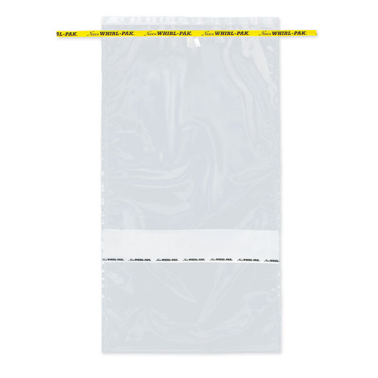 Whirl-Pak® Flat Wire Bags with Write-On Strip - 123 oz. (3,637 ml) - Box of 250
