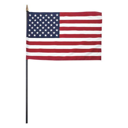 American Flag with Wood Staff