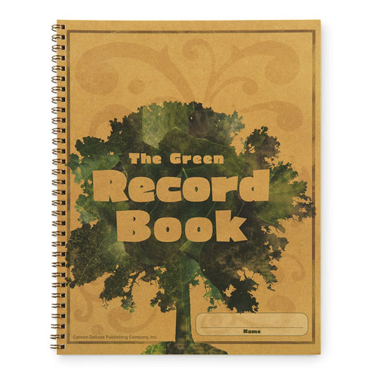 The Green Record Book - 8-1/2 in. x 11 in.