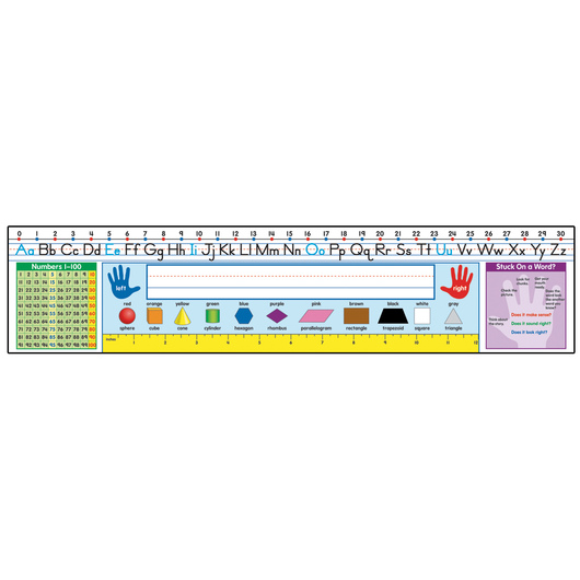 Traditional Manuscript Quick Stick™ Preschool Desk Nameplates - Pkg. of 30
