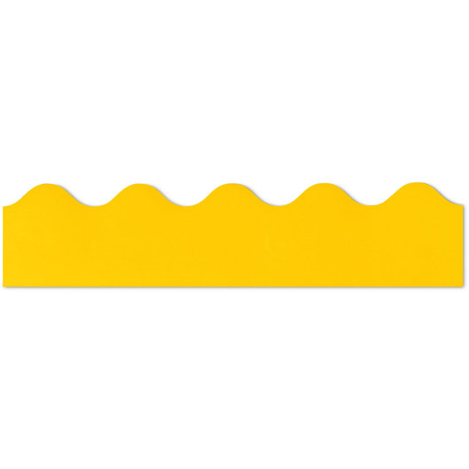 Rolled Scalloped Border - 36 ft. x 2-1/4 in. - Yellow