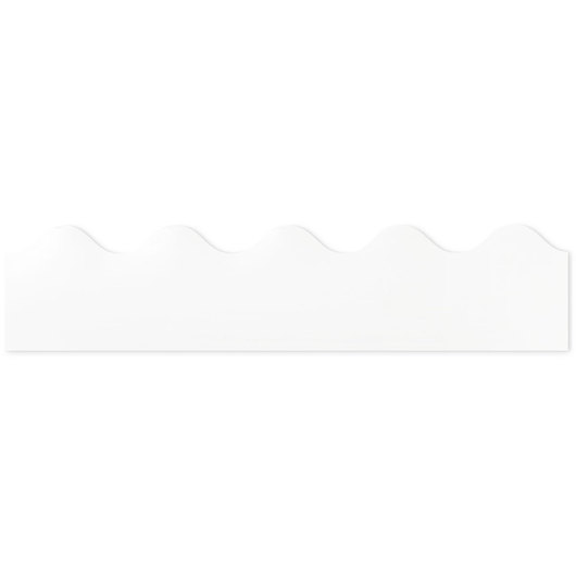 Rolled Scalloped Border - 36 ft. x 2-1/4 in. - White
