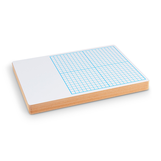 Graph Dry-Erase Boards - Set of 12