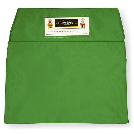 Classroom Pack of 25 Seat Sack™ Chair Pocket Organizers - 17 in. Large Size - Green