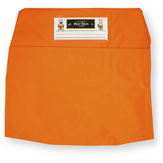 Classroom Pack of 25 Seat Sack™ Chair Pocket Organizers - 17 in. Large Size - Orange