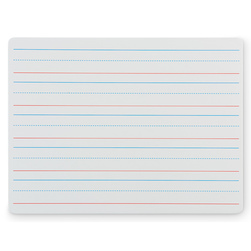 Two-Sided Magnetic Red & Blue Ruled Dry-Erase Board
