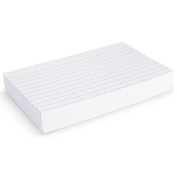 Index Cards - 3 in. x 5 in. Ruled - Pkg. of 100