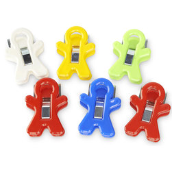 Magnet Man Clips - Set of 6