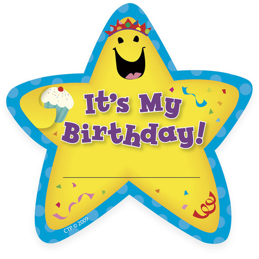 Its My Birthday! Star Badges