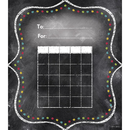 Chalk It Up! Charming Dots Student Incentive Charts - Pkg. of 36