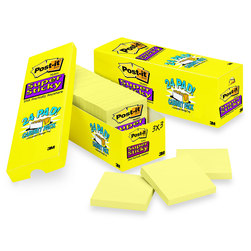 Post-It® Super Sticky Notes Canary Yellow - Pack of 24 - 3 in. x 3 in.