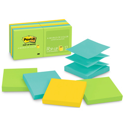Post-It® Pop-Up Notes - 3 in. x 3 in. - Pack of 12 - Jaipur Collection