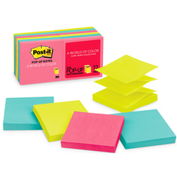 Post-It® Super Sticky Notes Cape Town Collection - Pack of 12 - 3 in. x 3 in.