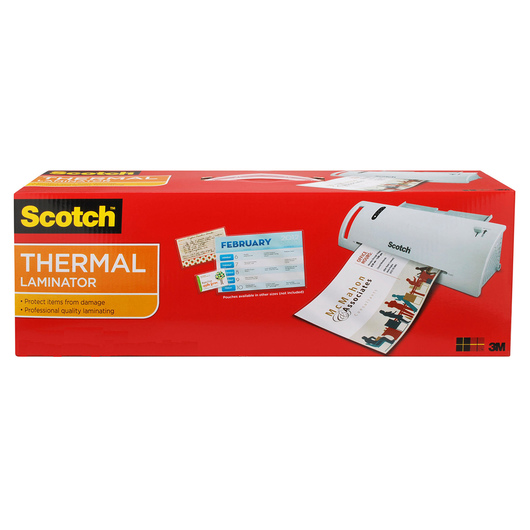 Scotch® Thermal Laminator - Laminates Up To 9 in. Documents - 15-1/2 in. x 6-3/4 in. x 3-3/4 in.