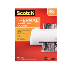 Thermal Pouches - 3 mil - Holds Sheets Up To 8-1/2 x 11 in. - Pack of 200