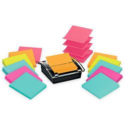 Post-It® Super Sticky Notes Pop-Up Dispenser & Bright Color Pads