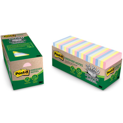 Post-It® Notes Cabinet Pack - 3 in. x 3 in. Helsinki Collection - Pack of 24