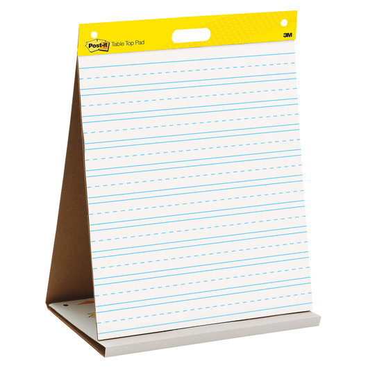 Post-It® Tabletop Easel Pad - 20 in. x 23 in. - 20 Sheets - Primary Ruled