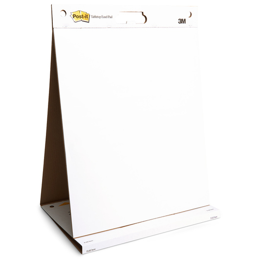 Post-It® Tabletop Easel Pad - 20 in. x 23 in. - 20 Sheets - Plain White