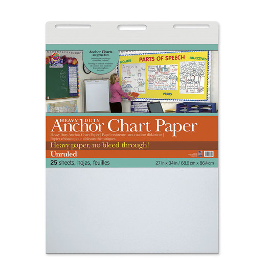 Pacon® Heavy-Duty Anchor Chart Paper - 1 in. Unruled - 25 sheets