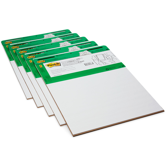 Post-It® Easel Pad - 25 in. x 30 in. - 30 Sheets - Recycled Paper - Pack of 6