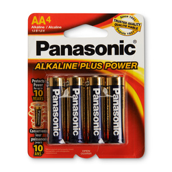 Panasonic Alkaline Plus Power Batteries - Pack of 4 AA