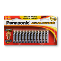 Panasonic Alkaline Plus Power Batteries - Pack of 24 AAA