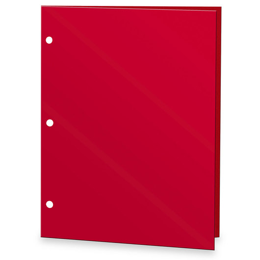 Solid Color 2-Pocket Paper Portfolio - 12 in. x 9-3/8 in. - Assorted Color