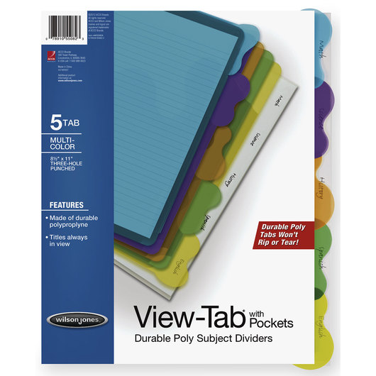 View-Tab® Transparent Dividers
