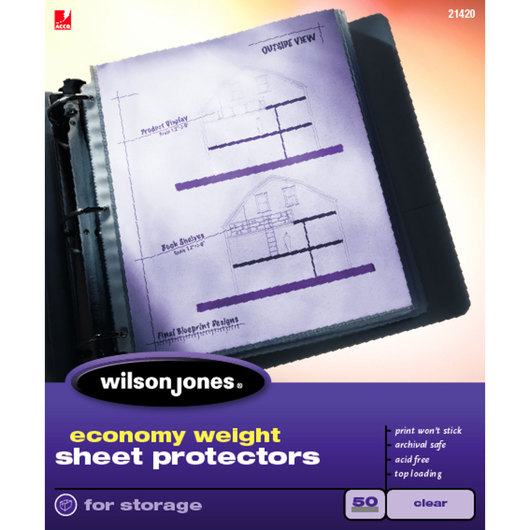Sheet Protectors - Economy Weight - Pack of 50 - Clear