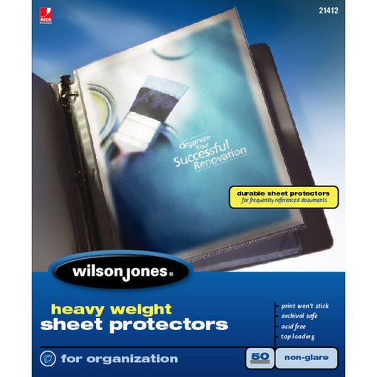 Sheet Protectors - Heavyweight - Pack of 50 - Nonglare