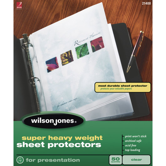 Sheet Protectors - Super Heavyweight - Clear