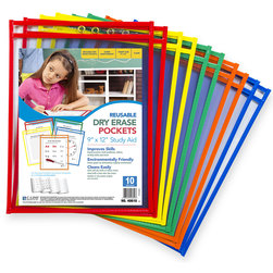 Reusable Dry-Erase Pockets - Pack of 10