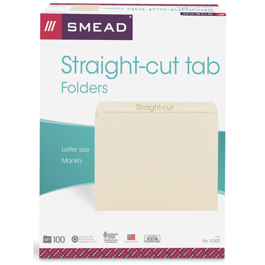 Manila File Folders - Straight-Cut Tab