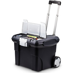 Mobile Filing Cart - 15 in. L x 16 in. W x 14-1/4 in. H