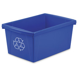 Storex Recycle Bin - 5-1/2 Gallons - 16-13/16 in. L x 11-7/8 in. W x 8-5/16 in. H