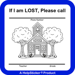 HelpSticker® - School if Lost Sticker - Pack of 500